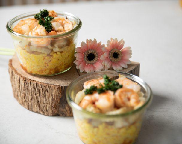 Bocal de risotto aux scampis