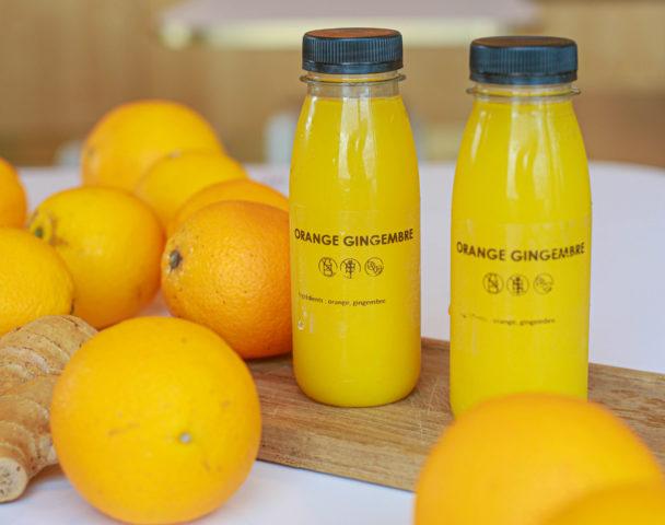 Jus frais maison orange gingembre