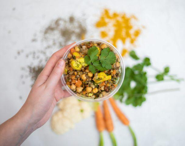 Petite salade de lentilles & pois chiches
