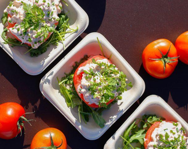 Entrée - Tomate aux crevettes